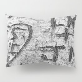 Love messages carved in the tree in Lover's Lane, Green Gables Pillow Sham