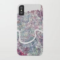 new orleans iPhone & iPod Cases featuring New Orleans  by MapMapMaps.Watercolors