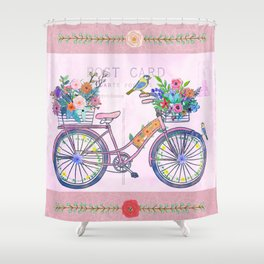 Postcard From Paris Shower Curtain