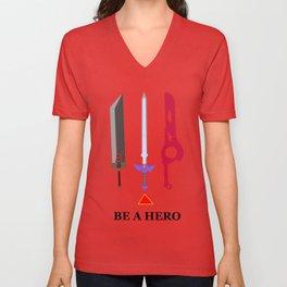Be A Hero Unisex V-Neck