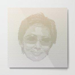 Tessellated Portraits - D.H. Metal Print
