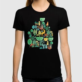 Jungle life with golden unicorn T-shirt