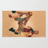 big lebowski Area & Throw Rugs featuring Big Lebowski by Dave Collinson
