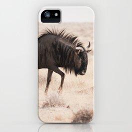 Wildebeest's long Walk iPhone Case