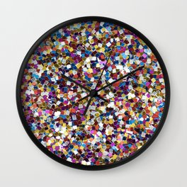 Colorful Rainbow Sequins Wall Clock