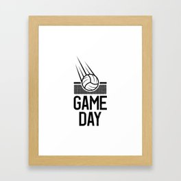 Game Day Volleyball play volleyballer gift Framed Art Print