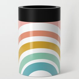 Simple Happy Rainbow Art Can Cooler