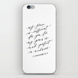 2 Corinthians 12:9 iPhone Skin