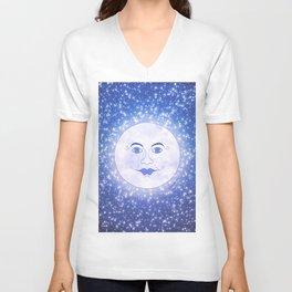 Dreamy Victorian Moon Unisex V-Neck