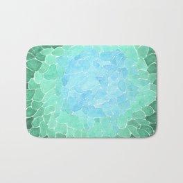 Abstract Sea Glass Bath Mat