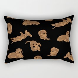 Short Haired Dachshund Pattern Rectangular Pillow