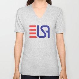 USA Monogram Unisex V-Neck