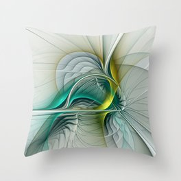 Fractal Evolution, Abstract Art Graphic Throw Pillow