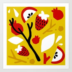fall pattern Art Print