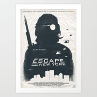 tintin Art Prints featuring John Carpenter's Escape From New York by Alain Bossuyt