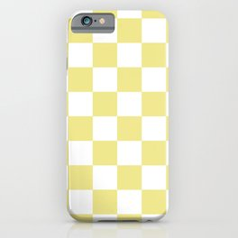 CHECKERBOARD (KHAKI & WHITE) iPhone Case