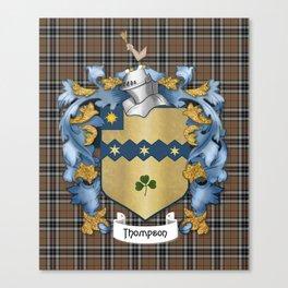 Thompson Crest and Tartan Canvas Print