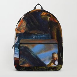 Fisherman's Family at the Coast by George Wesley Bellows Backpack