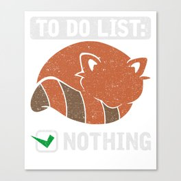 Todo Liste T-Shirt Canvas Print