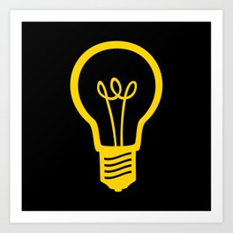 Yellow Lightbulb Art Print