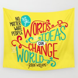 Words and Ideas Wall Tapestry