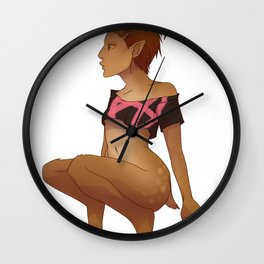 Punk Faun - No Text Wall Clock