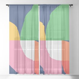 Abstract Geometric 15 Sheer Curtain