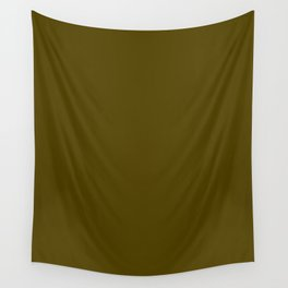 Dark Bronze (Coin) - solid color Wall Tapestry