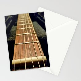 6 strings at the nut Stationery Cards