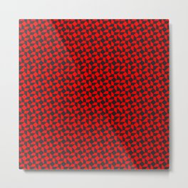 Warped Tiles / Red Metal Print