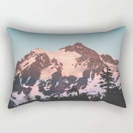 Pink Cascade Mountain Rectangular Pillow