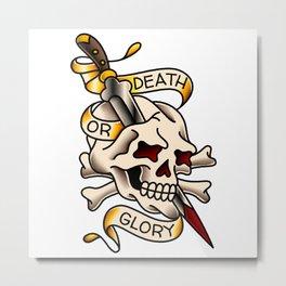 Death or Glory Skull Metal Print