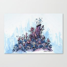 Ninja and the wood Canvas Print
