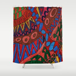 Abstract Imagination Shower Curtain