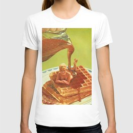 Pour some syrup on me - Breakfast Waffles T-shirt