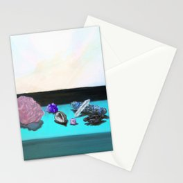 Sunlit Crystals with Sage Stationery Cards