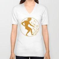greek V-neck T-shirts featuring GREEK LOGO by Fifikoussout