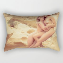 Nude Women In The Desert Rectangular Pillow