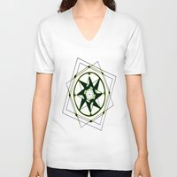 compass V-neck T-shirts featuring Compass by Isa Gutierrez