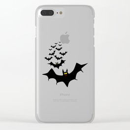 Isolated Bats Clear iPhone Case