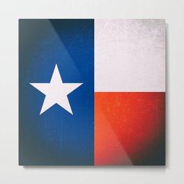 The Lone Star - Old Texas flag Metal Print