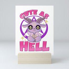 Cute As Hell Pastel Anime Kawaii Baphomet Goth Pun Mini Art Print