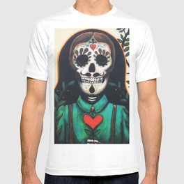 Love Always and Forever // Sugar Skull Day Dead Dia Muertos Creepy Cute Skeleton T-shirt