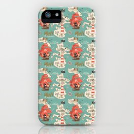 Purr Island and Adventures of Captain Sam n Matey iPhone Case