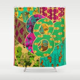 Tile 8 Shower Curtain