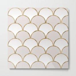 Golden Chinese Pattern Metal Print