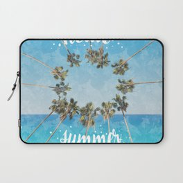 hello summer palm trees design 2 Laptop Sleeve