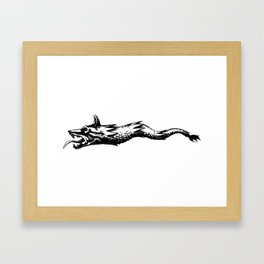 dacia wolf flag Framed Art Print