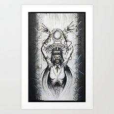 A Heart So Black Art Print