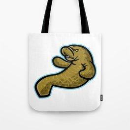 Angry Manatee Mascot Tote Bag